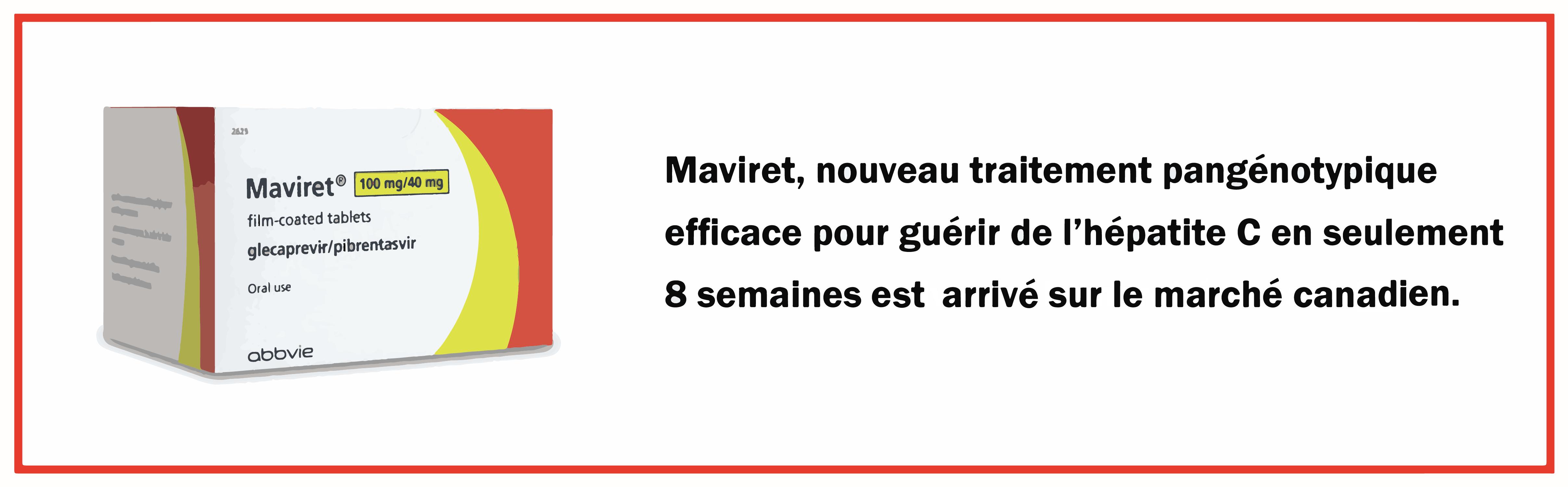 Le nouveau traitement Maviret pour l'Hépatite C est maintenant remboursé au Québec!