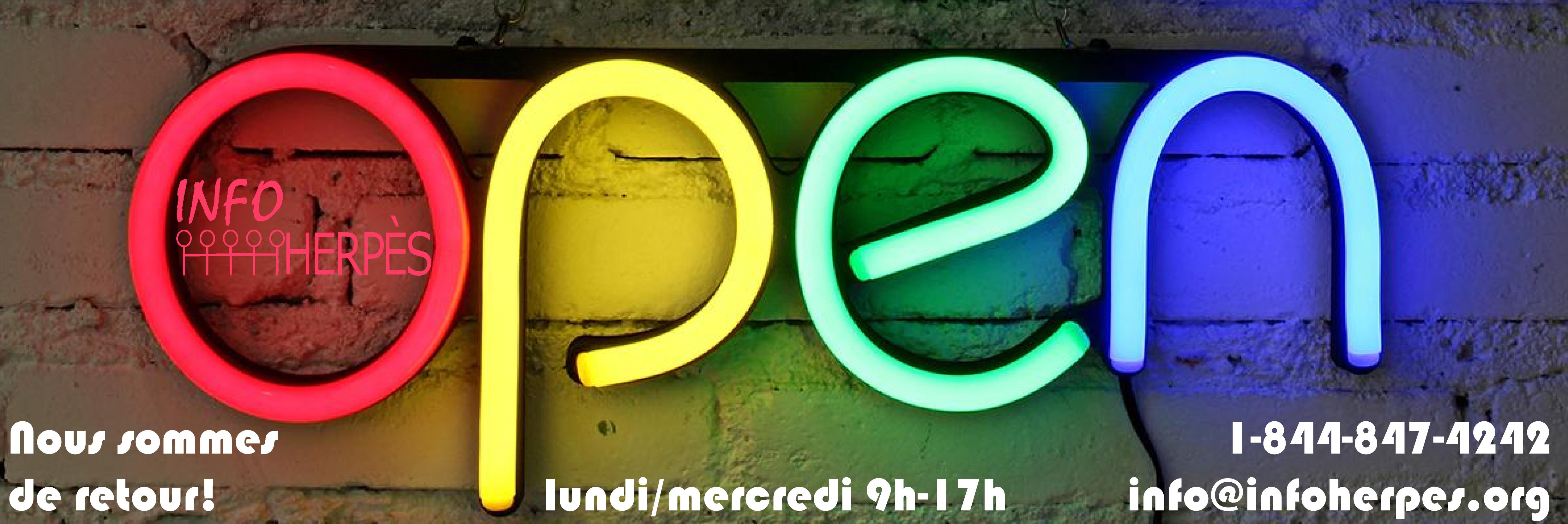 Info-Herpès est ouvert à nouveau!